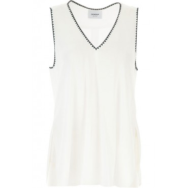 Dondup Women Tops White•Other colors: Black Hot Sale VJOM700