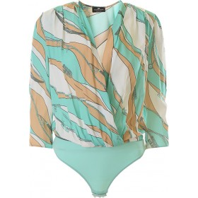 Elisabetta Franchi Women Tops Turquoise•Other colors: White,Beige Boutique NOHJ579
