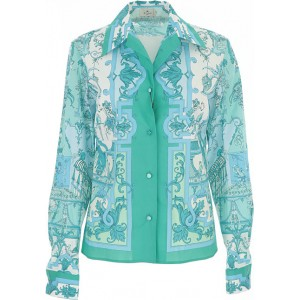 Etro Women Tops Light Blue•Other colors: Green Fitted BGVN563