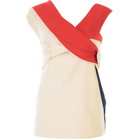 Jil Sander Women Tops White•Other colors: Red,Blue in style QTRW982