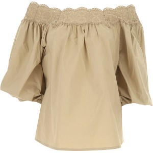 P.A.R.O.S.H. Women Tops Beige Number 1 Selling KCEO604