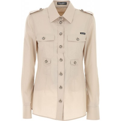 Dolce & Gabbana Women Shirts Beige going out on sale online KEDT981