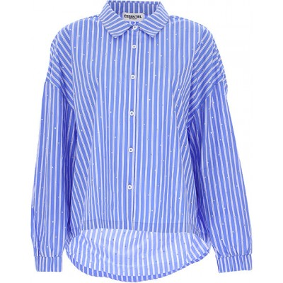 ESSENTIEL Antwerp Women Shirts Blue•Other colors:White Business Casual CBGH584
