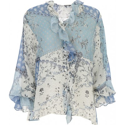 Etro Women Shirts Sky Blue•Other colors:Dark Blue,White Casual MFFQ407