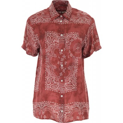 Golden Goose Women Shirts Orient Red•Other colors:White Size XL Trends 2021 PRKC926