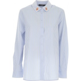 Max Mara Women Shirts Blue•Other colors: White for wedding OWRF652