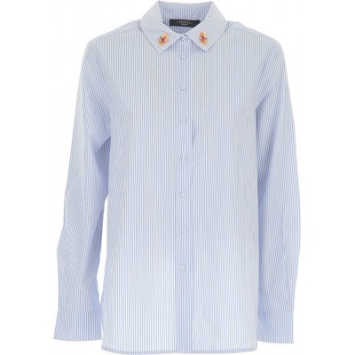 Max Mara Women Shirts Blue•Other colors:White for wedding OWRF652