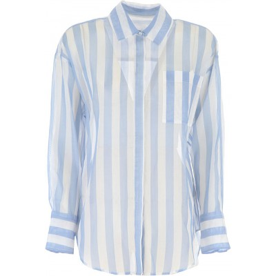 MSGM Women Shirts Blue Sky•Other colors:White Size XL Number 1 Selling DIOV266
