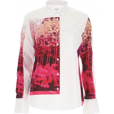Paul Smith Women Shirts White•Other colors:Pink Summer New Arrival HMRM474