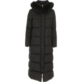 Herno Women Down Jackets Black night out Trends WFMY276
