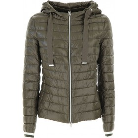 Herno Women Down Jackets Military Green 2021 Trends VWAS371