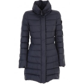 Peuterey Women Down Jackets Midnight Blue Going Out quality FVMZ734