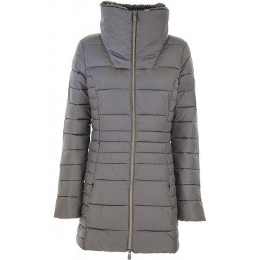 Save the Duck Women Down Jackets Mid Grey to wear to a wedding shop online UNUA180
