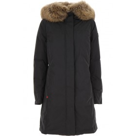 Woolrich Women Down Jackets Black to wear to a wedding New Style WWXH224