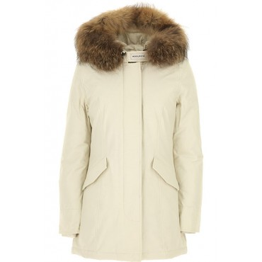 Woolrich Women Down Jackets Stone White Casual 2021 Trends CPQO638