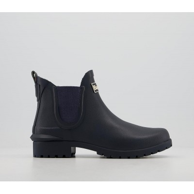 Barbour Barbour Wilton Wellies Navy - Ankle Boots for Women Near Me BJT1X8266