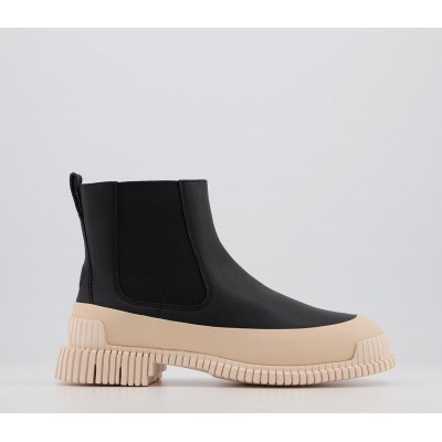 Camper Mugello Chelsea Boots Black Cream - Ankle Boots for Women stores KWH1I5464