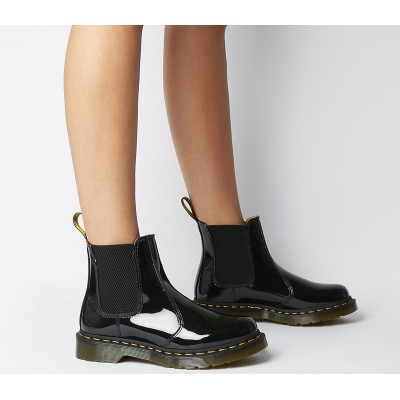 Dr. Martens 2976 Chelsea Boots Black Patent - Ankle Boots for Women FBFWR2509
