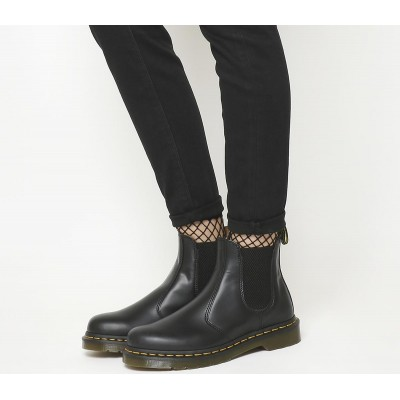 Dr. Martens 2976 Chelsea Boots F Black Leather - Ankle Boots for Women O3G0J525