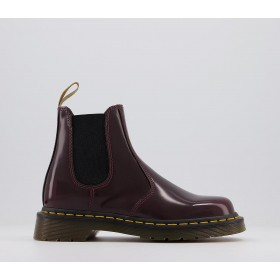 Dr. Martens Vegan 2976 Chelsea Boots Cherry - Ankle Boots for Women MEPWG3217