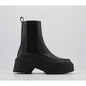 Office Acclaim High Cut Chunky Chelsea Boots Black - Womens Chelsea Boots for Women Top Sale KEE2C124