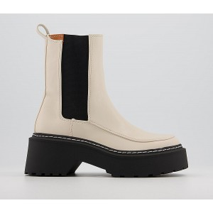 Office Acclaim High Cut Chunky Chelsea Boots Off White - Ankle Boots for Women The Best Brand O9YXK8632