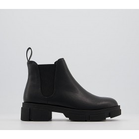 Office Alarming Chunky Chelsea Boots Black - Ankle Boots for Women AWDGU4093