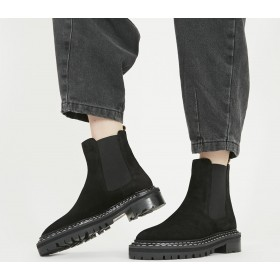 Office Altruistic Chelsea Boots Black Suede - Ankle Boots for Women Popular M4C749895