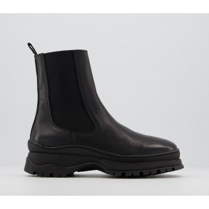 Office Amelia Weather Proof Chelsea Boots Black Leather - Ankle Boots for Women Trends MH2HI1115