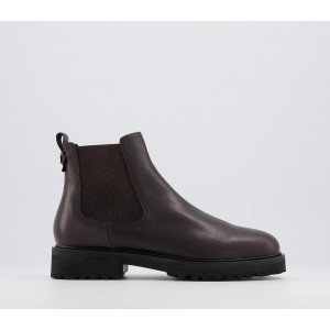 Office Artful Feminine Chelsea Boots Chocolate Leather - Ankle Boots for Women EK5PF8853