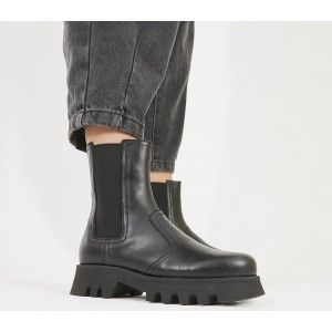 Office Avidity Chelsea Boots Black Leather - Ankle Boots for Women shop online J50OR510