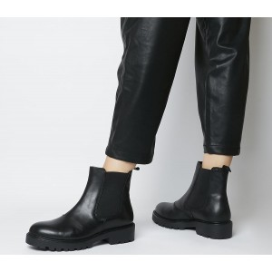 Vagabond Shoemakers Kenova Chelsea Boots Black Leather - Ankle Boots for Women IFJHQ1649