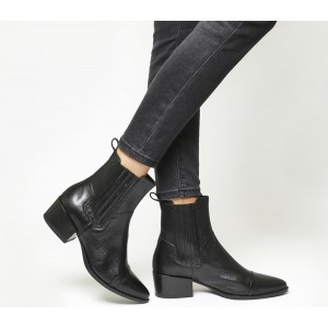 Vagabond Shoemakers Marja Chelsea Boots Black Leather - Ankle Boots for Women Shop R7AZA7271