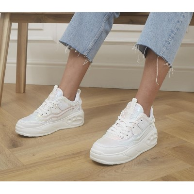 Buffalo Flat Cpx Trainers White Mermaid - Flat Shoes for Women for Women New Look C0OUW7570