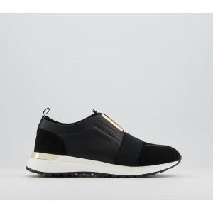 Office Fact Trim Detail Slip On Runners Black Mix Gold Hardware - Flat Shoes for Women for Women guide 5X1LZ2941
