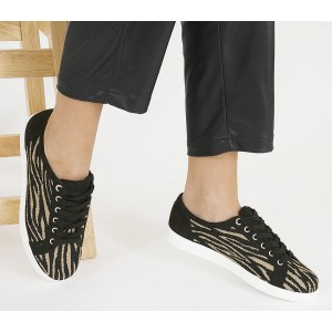 Office False Start Lace Up Trainers Tiger Knit - Fashion Trainers for Women NED983821