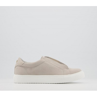Office Fenella Feature Slip On Trainers Grey - Flat Shoes for Women for Women Recommendations T6JH22197