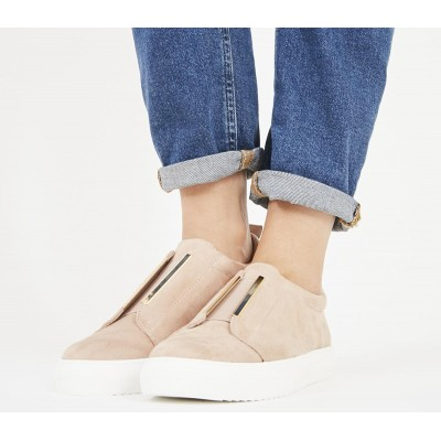Office Fizz Slip On Trainers Nude - Flat Shoes for Women for Women Cut Off 9P2SA7665