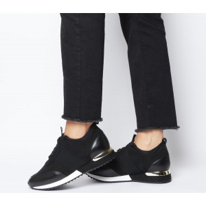 Office Flaming Glam Runners Black - Flat Shoes for Women for Women business casual NS39Y5499