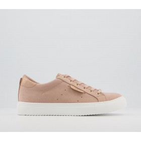 Office Flora Star Detail Lace Up Trainers Nude Rose Gold Mix - Flat Shoes for Women for Women Sale UX8AB7758