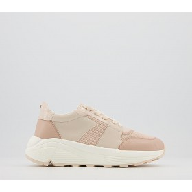 Office Forest Chunky Lace Up Trainers Nude Pink Mix - Flat Shoes for Women for Women business casual 1VY9U5225