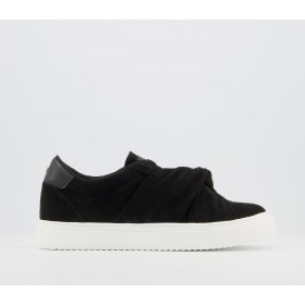 Office Founded Twisted Slip On Trainers Black - Flat Shoes for Women for Women boutique ET76B9696