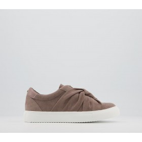 Office Founded Twisted Slip On Trainers Mocha - Flat Shoes for Women for Women new in 5FC3J9796