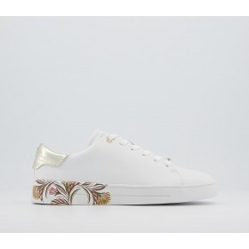 Ted Baker Tiriey Trainers White - Flat Shoes for Women for Women business casual 6QEN5453