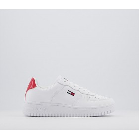 Tommy Hilfiger Basket Sneakers White Navy - Hers trainers for Women Online Wholesale R48MF5335