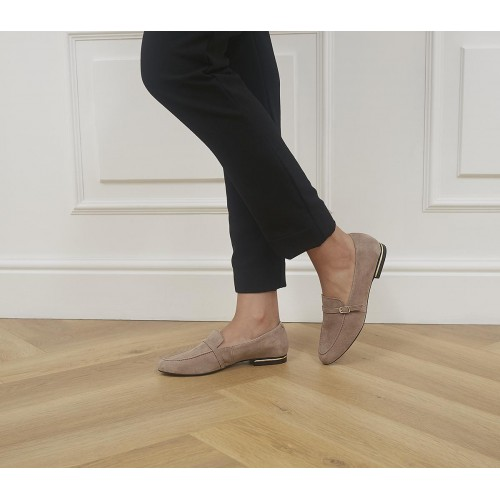 Office Factual Buckle Loafers Taupe Suede - Non Promo Products for Women shop online 2WZX38394