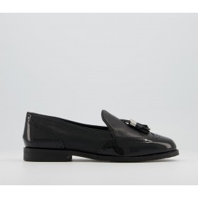 Office Fain Tassel Loafers Black Patent Leather Mix - Flat Shoes for Women for Women The Top Selling 3LUM64792