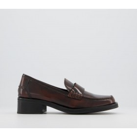 Office Featuring Loafers Brown Leather - Flat Shoes for Women for Women 2021 Trends USF6Q7264