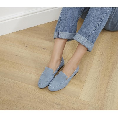 Office Fia Soft Loafers Light Blue Suede - Flat Shoes for Women for Women lifestyle 9YM477672