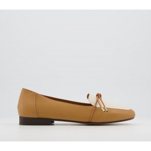 Office Flashlight Slim Bow Loafers Ochre Off White Leather Mix - Flat Shoes for Women for Women Lowest Price UL84R9345